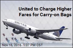 United to Charge Higher Fares for Carry-on Bags