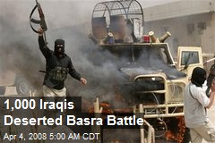 1,000 Iraqis Deserted Basra Battle