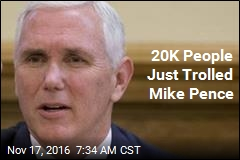 20K People Just Trolled Mike Pence