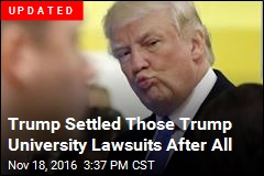 Trump Close to Settling Trump University Lawsuits