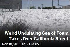 Foam Spill Turns California Into Winter Wonderland