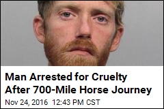 Guy Rides Horse From SC to Fla., Gets Arrested