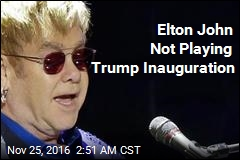 Elton John Not Playing Trump Inauguration