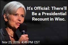 It's Official: There'll Be a Presidential Recount in Wisc.