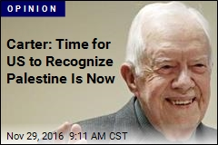 Carter: Time for US to Recognize Palestine Is Now