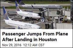 Woman Jumps From Plane at Houston Airport