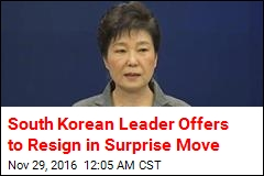 South Korean Leader Says She'll Resign