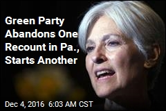 Green Party Abandons One Recount in Pa., Starts Another