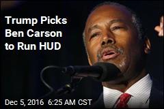 Trump Picks Ben Carson to Run HUD
