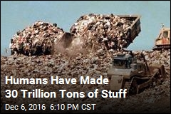 Humans Have Made 30 Trillion Tons of Stuff