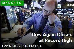 Dow Again Closes at Record High