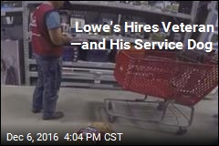 Lowe's Hires Veteran —and His Service Dog