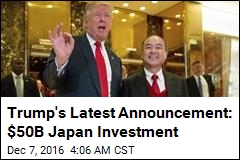 Trump Takes Credit for $50B Japan Investment