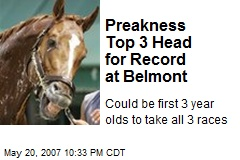 Preakness Top 3 Head for Record at Belmont