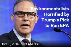 Trump's EPA Pick Is Suing the EPA