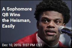 A Sophomore QB Wins the Heisman, Easily