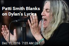 Patti Smith Blanks on Dylan's Lyrics