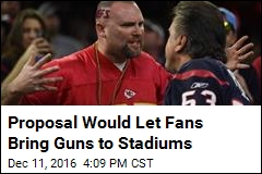 Proposal Would Let Fans Bring Guns to Stadiums