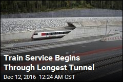 Train Service Begins Through Longest Tunnel