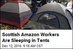 Scottish Amazon Workers Are Sleeping in Tents