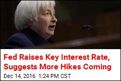 Fed Raises Key Interest Rate, Suggests More Hikes Coming