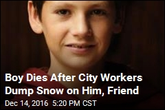 Boy Dies After City Workers Dump Snow on Him, Friend