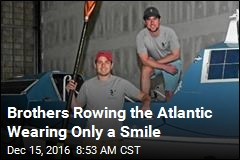 Brothers Rowing the Atlantic Wearing Only a Smile