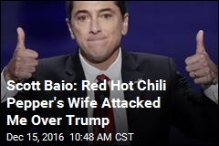 Scott Baio: Red Hot Chili Pepper's Wife Attacked Me Over Trump