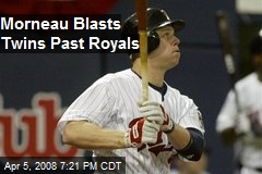 Morneau Blasts Twins Past Royals