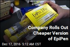 Company Rolls Out Cheaper Version of EpiPen