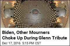 Biden, Other Mourners Choke Up During Tribute to John Glenn