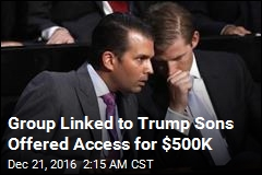 Group Linked to Trump Sons Offered Access for $500K