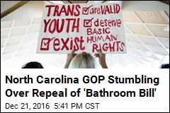 North Carolina GOP Stumbling Over Repeal of 'Bathroom Bill'