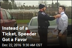 Instead of a Ticket, Speeder Got a Favor