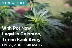 With Pot Now Legal in Colorado, Teens Back Away