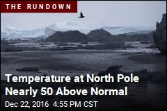 Temperature at North Pole Nearly Reaches Melting Point