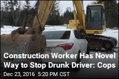 Construction Worker Has Novel Way to Stop Drunk Driver: Cops