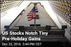 US Stocks Notch Tiny Pre-Holiday Gains