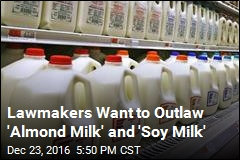 25 Lawmakers Question Plant-Based 'Milk' Label