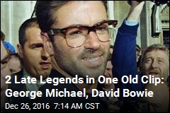 2 Late Legends in One Old Clip: George Michael, David Bowie