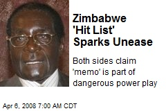 Zimbabwe 'Hit List' Sparks Unease