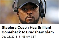 Steelers Coach Has Brilliant Comeback to Bradshaw Slam
