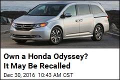 Honda Recalling 633,753 Minivans