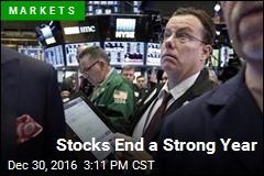 Stocks End a Strong Year