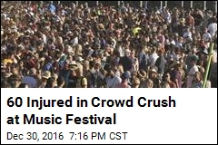 60 Injured in Crowd Crush at Music Festival