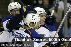 Tkachuk Scores 500th Goal