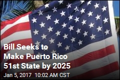 Bill Seeks to Make Puerto Rico 51st State by 2025