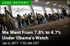 Obama Hands Trump a 4.7% Unemployment Rate