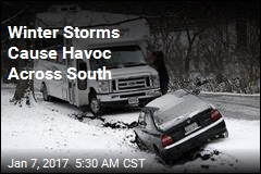 Winter Storms Cause Havoc Across South