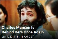 Charles Manson Is Behind Bars Once Again